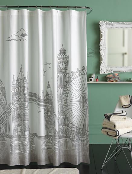 Inspiration for my London-themed bathroom.