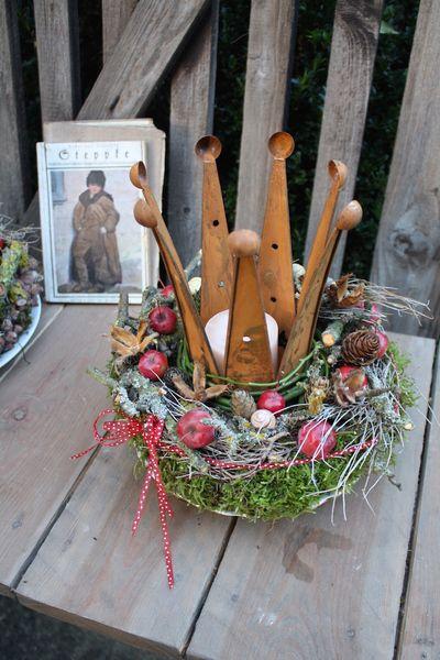 und noch eine Krone für den König Herbst.... von FRIJDA im Garten - Aus einer Idee wurde Leidenschaft auf DaWanda.com