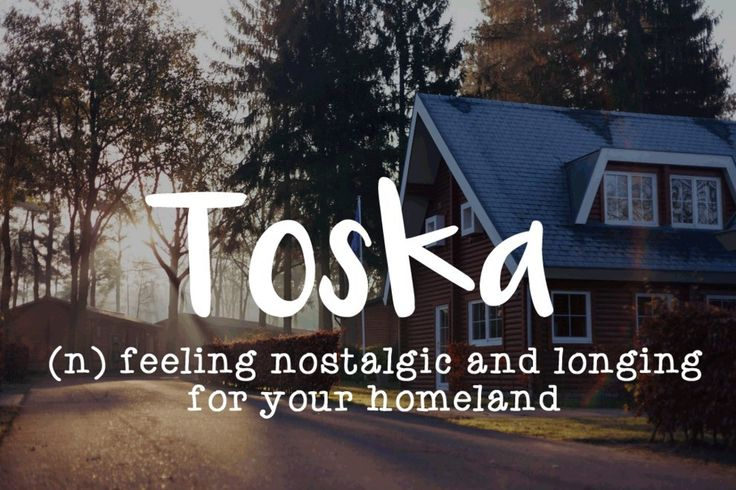 ahaahha ang again. man, i can`t describe what i feel. Toska is really bad feeling.i wish you will never have it