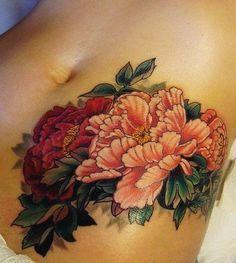 tatuagem de peônia1