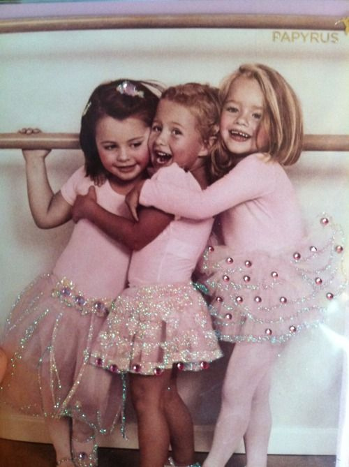 I had 3 daughters who all danced for years. This reminds me of them. Little pink shoes ,little pink tights, tutus and giggles.