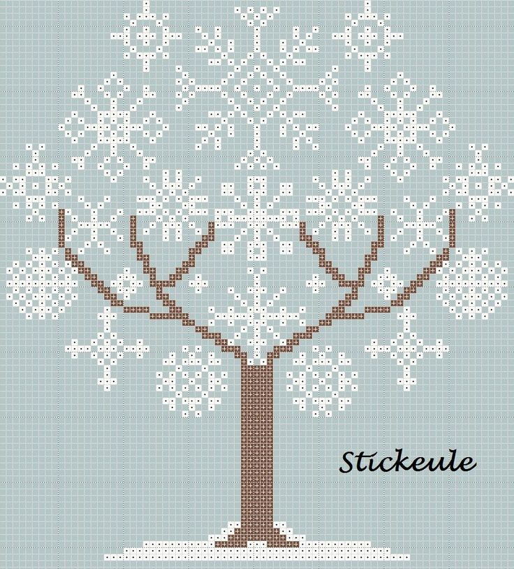Beautiful snowflake tree cross stitch! This site is in German, but contains many free patterns such as this one that does not require knowing German. There are also patterns which include some German words that are very charming- such as shop signs and little quotes. If you know German, or even if you don't, this is an awesome site for cross stitch enthusiasts- RRM