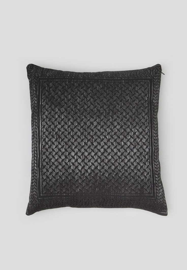 Cushion Neyla is part of our exclusive Kufiya Noire Capsule Collection. It is a black jacquard cushion made of woven Lurex kufiya print.  #lalaberlin #lala #berlin #lalaloves #kufiyanoire #special #edition #limited #collection #black #elegant #christmas #autumn #winter #aw16 #cosy #inspiration