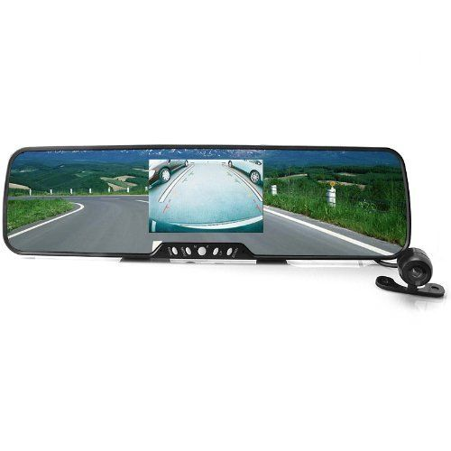 Sourcingbay® Bluetooth Car Rearview Mirror with Wireless Backup Camera + 3.5''tft Screen + Wireless Earphone + 2 Speakers + 2 Mic + Fm. High quality 3.5' TFT LCD color display caller's ID and name. Wireless backup camera, visual angle 1200, waterproof design. Super light and thin-the thinnest and lightest Bluetooth rearview mirror car kit with monitoring camera on the market. Built-in microphone with DSP (Digital Signal Processing) noise and echo cancellation. Note: No battery included…