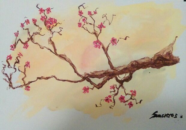 Cherry blossom - watercolor