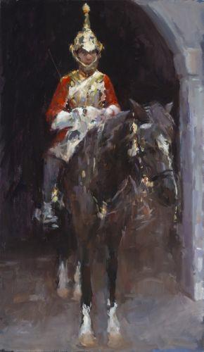 Dinie Boogaert, The Guard oil on canvas 2012 120x70cm
