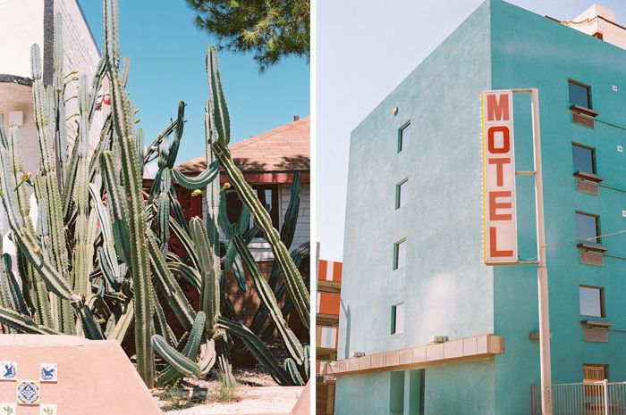 blue motel downtown las vegas photo