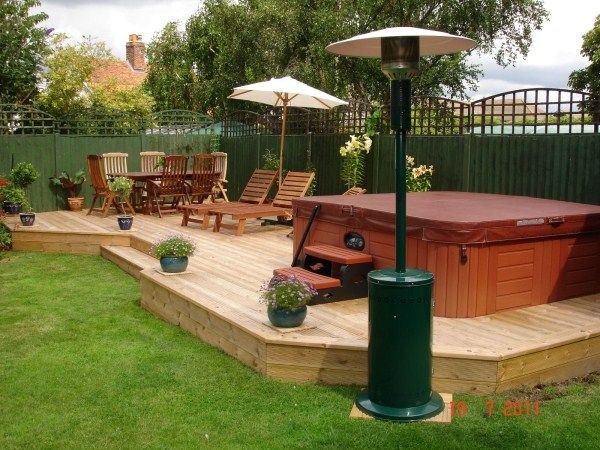 Hot Tub Ideas Backyard hot tub on deck Find This Pin And More On Hot Tub Patio Ideas