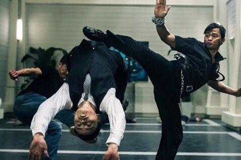 "The 36th Blogger of Shaolin. — Tony Jaa and Max Zhang in ""SPL 2""."