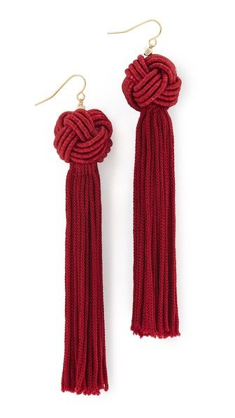 Knotted tassels bring fluid movement to these Vanessa Mooney earrings. French hook.