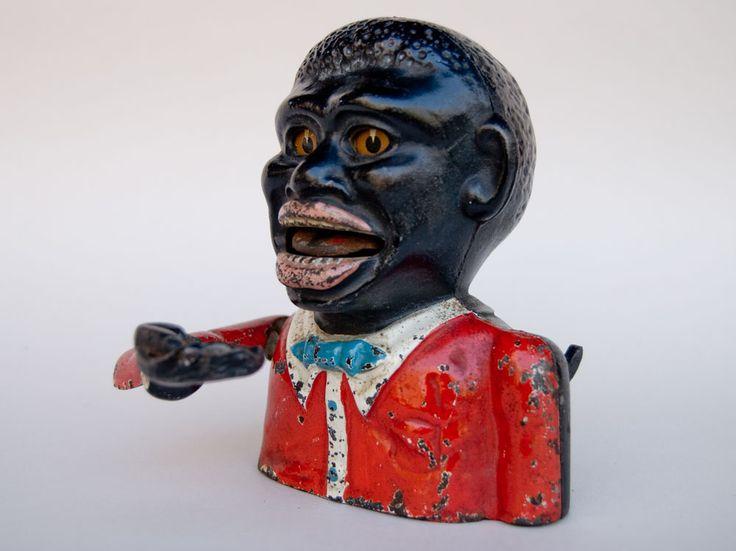 antique toy banks | Antique Mechanical Bank: Jolly Nigger: Circa 1935
