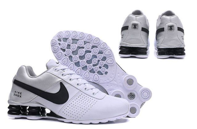 ee83da45f71 Nike Shox Deliver White Silver Black Mens Running Shoes NIKE ...