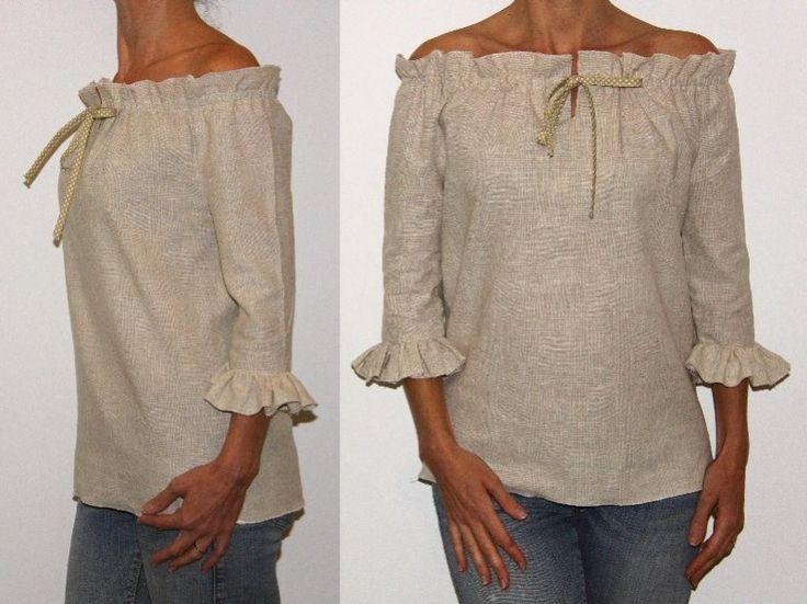 Patron de couture - Tunique manches à volants. Venez vite télécharger ce nouveau modèle sur www.cours-couture.com