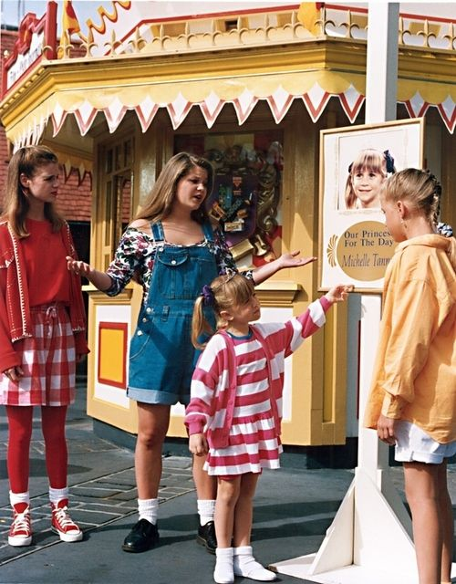 Stephanie Tanner, Michelle Tanner, DJ Tanner, and Kimmie Gibler from Full House