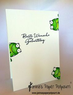 jpp - toadally in love with frogs / frog Birthday Card / Frosch/ Stampin' Up! Berlin / You´re Sublime / Aqua painters / Watercolor Wishes / Malerische Grüße www.janinaspaperpotpourri.de
