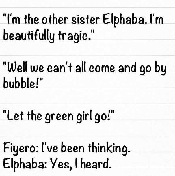 Some of the funniest lines in Wicked!