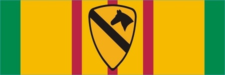 Vietnam Service Ribbon 1st Cavalry Division Decal $6.40