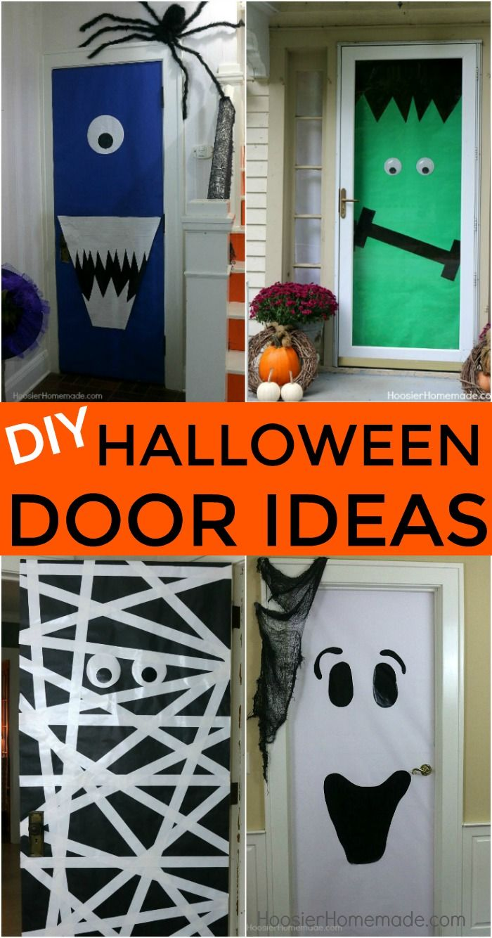 diy halloween doors - Simple Homemade Halloween Decorations