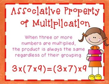 Are you teaching the properties of multiplication to your students? These posters and activity sheets will help teach these important math concepts to your students. Students will practice the zero property, identity property, associative property, commutative property, and the distributive property.