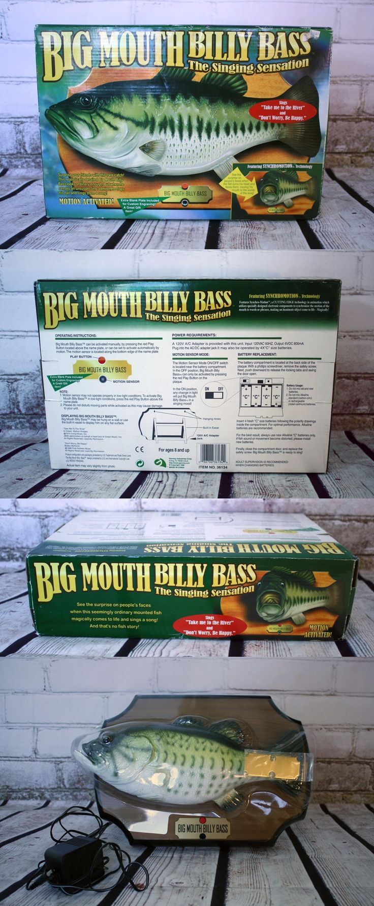 Novelties and Gifts 62143: Big Mouth Billy Bass Singing Fish Motion Activated Wall Plaque Nib New -> BUY IT NOW ONLY: $34.99 on eBay!