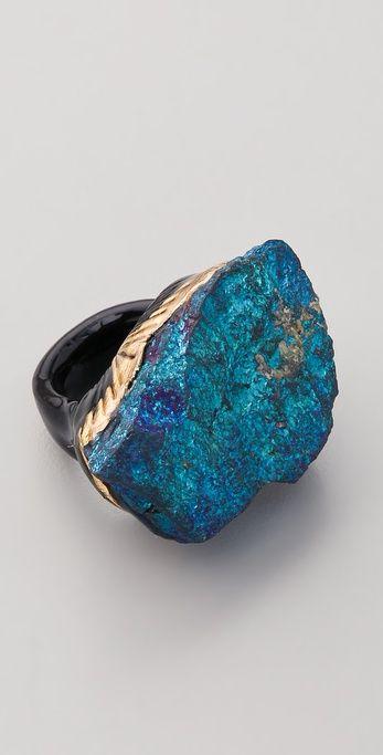 Adina Mills peacock pyrite ring.