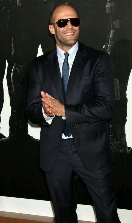 Jason Stratham-even through the suit you can see his muscles!!!
