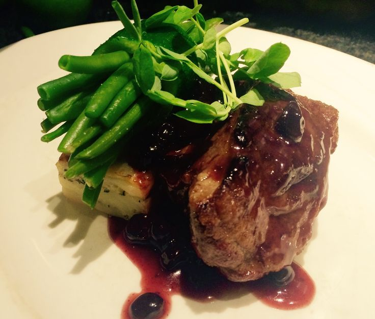 Rump of Therfield Heath Lamb, red wine and blackcurrant jus