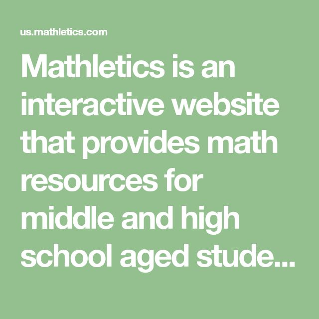 Mathletics Is An Interactive Website That Provides Math Resources