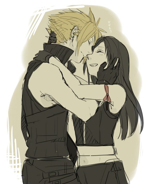 Cloud & Tifa (Final Fantasy VII)
