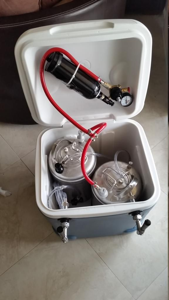 2 tap Igloo cooler complete! - Home Brew Forums | Beer ...