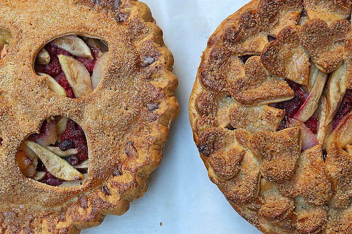 Pear Raspberry Pie by California Bakery