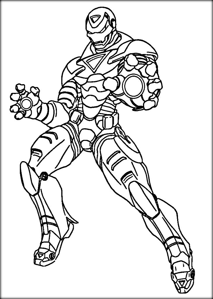 Pin On Iron Man Colouring Pages