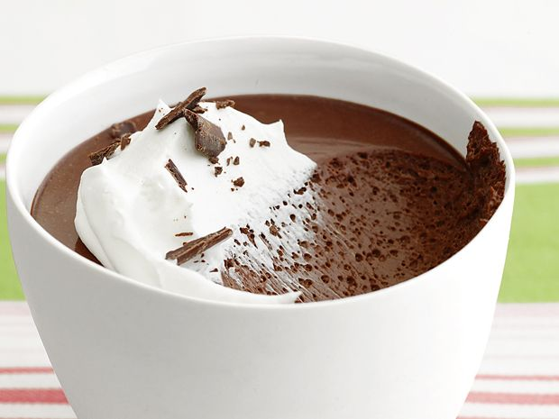 Chocolate Pots de Creme : Make these small cups of creamy chocolate pudding to impress your valentine.