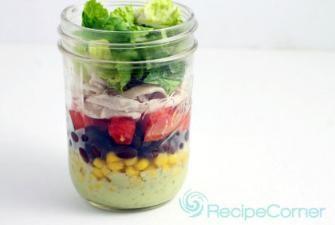 Chicken Taco Salad in a Jar Recipe | RECIPE CORNER