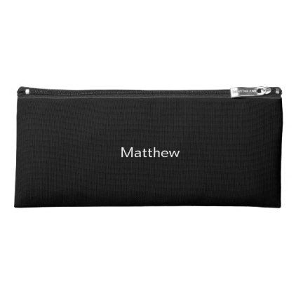 Black Pencil Case - Personalized Unisex Penci Case - office ideas diy customize special
