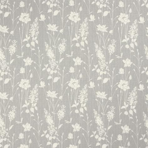 Dragonfly Garden Steel Curtain Fabric