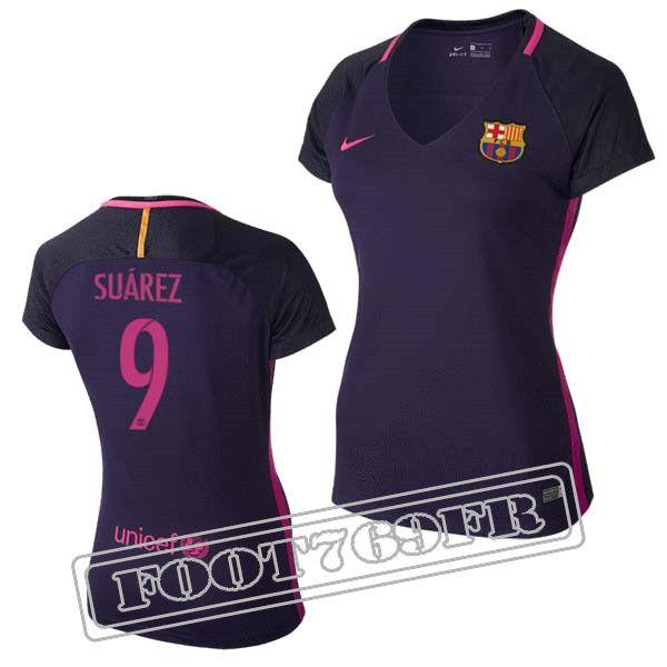 Promo Maillot Du Suarez 9 FC Barcelone Femme Violet/Rose 16/17 Exterieur : La Liga