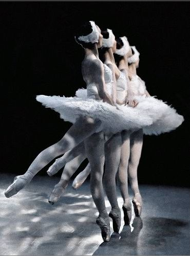 """Pas de quatre (Dance of four) from Swan Lake. One of the most difficult pieces to make shine as all four dancers must work in complete synergy - there's no """"i"""" in team even in ballet."""