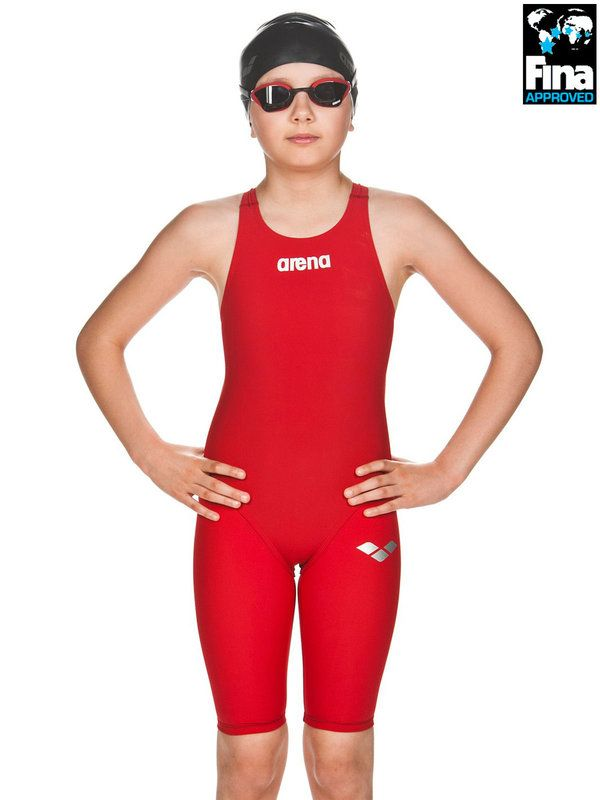 Arena Powerskin ST Junior Red Kneelength