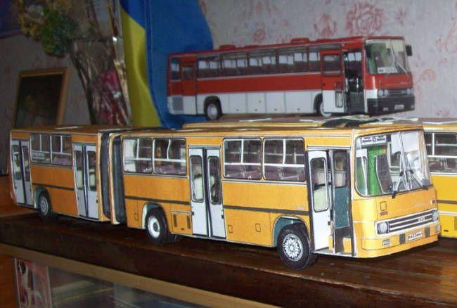 Ikarus 280.64 Urban Bus Free Vehicle Paper Model Download