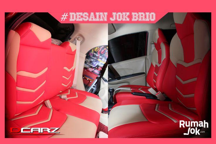 Desain Jok Mobil Honda Brio Tema Iron Man di Bekasi Bahan Lederlux Altro