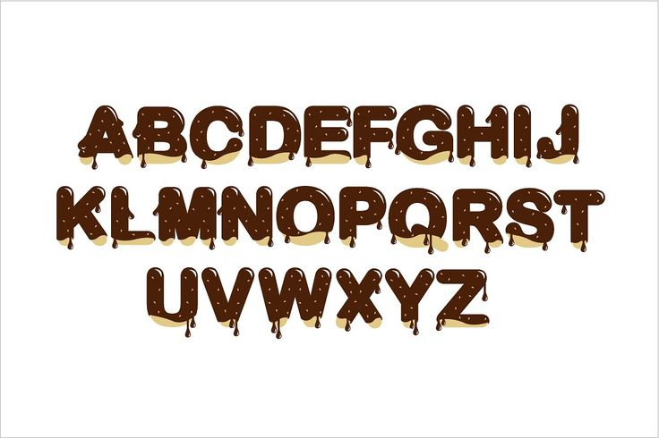 chocolate typography vector by lyeyee on @creativemarket