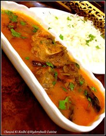 Hyderabadi Cuisine: Hyderabadi Chawal ki Kadhi