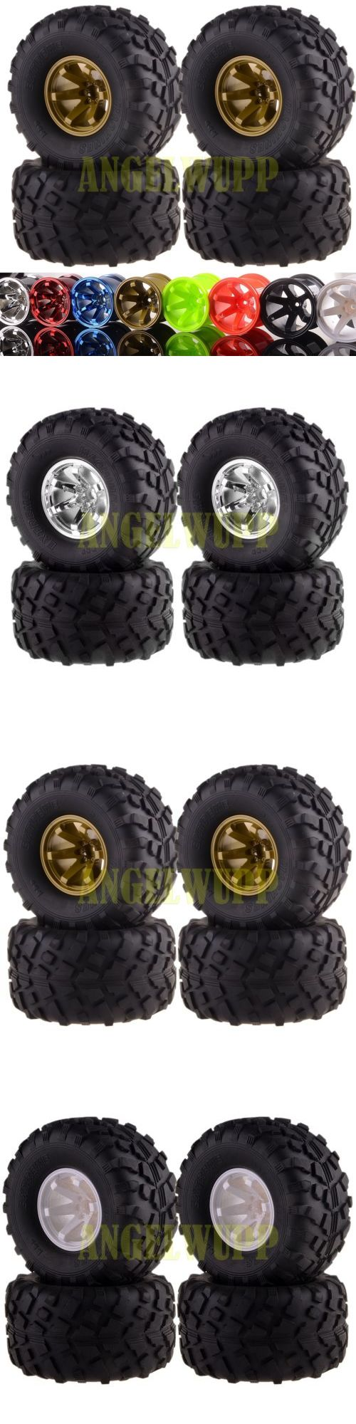 Radio Control 51029: Rc 1 10 Off Road Monster Truck Wheel Rimandtyre Tires 6008-3003 Hsp Hpi 8Colors -> BUY IT NOW ONLY: $35.91 on eBay!