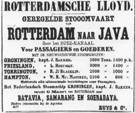 Koninklijke Rotterdamse Lloyd Museum -- Nederlands Indië