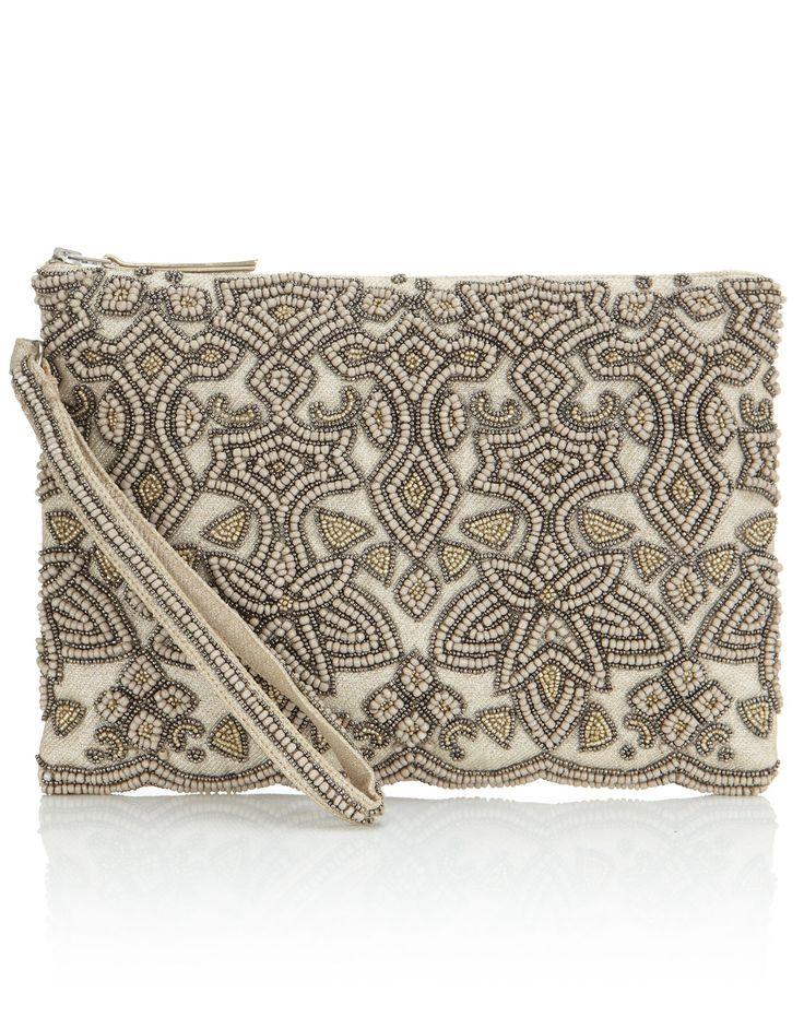 Adrianna Beaded Clutch Bag