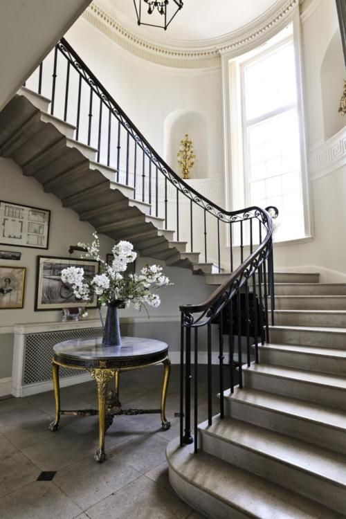 Small Foyer With Stairs : Best ideas about spiral staircase dimensions on