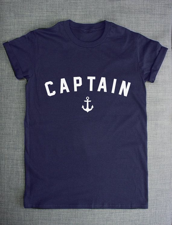 Nautical Anchor Shirt - Captain Achor Sailing Boat T-Shirt