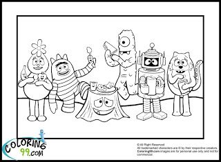 Yo gabba gabba Coloring pages and Coloring on Pinterest