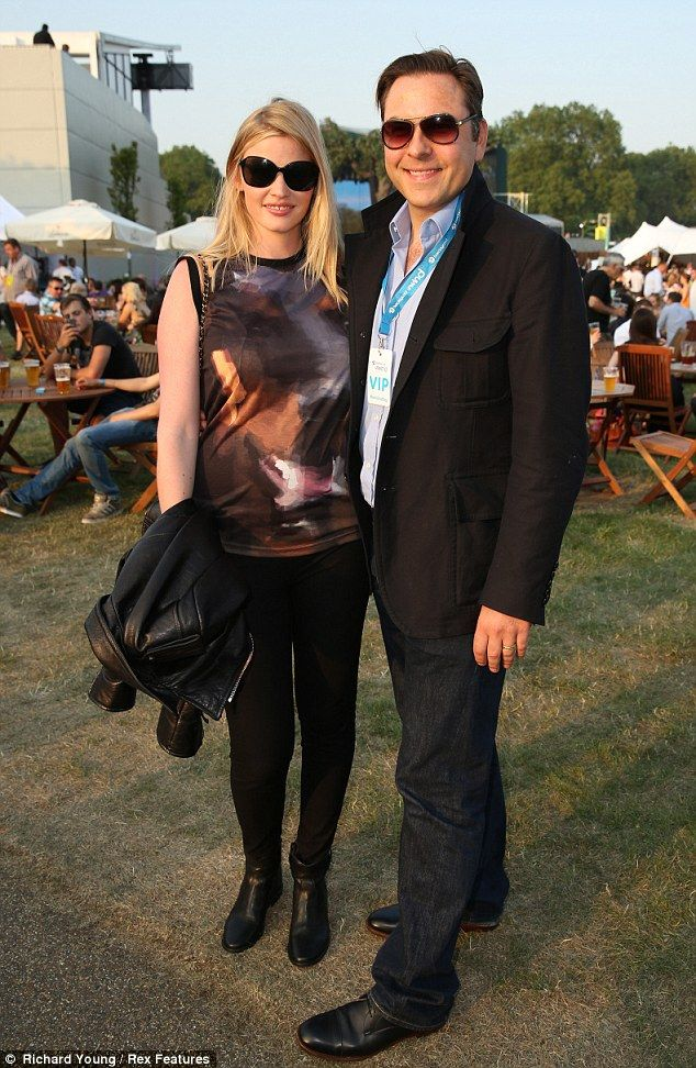 Celeb Style: Lara Stone and David Walliams at the Rolling Stones concert in Hyde Park on Saturday.